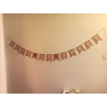 Love Is Sweet Burlap Banner by Sterling James Co.