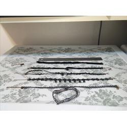 FIBO STEEL 6-8PCS Womens Black Velvet Choker Necklace