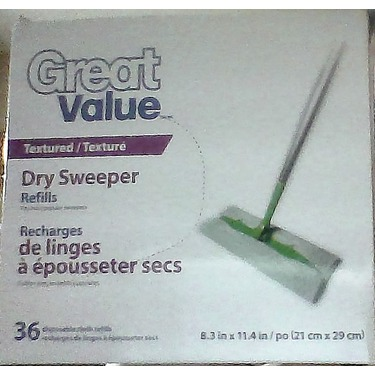 Great Value Dry Sweeper Refills Textured