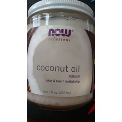 Now solutions natural coconut oil