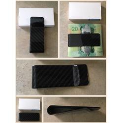 Carbon Fiber Money Clip CL CARBONLIFE® Credit Card Business Card Holder Black M