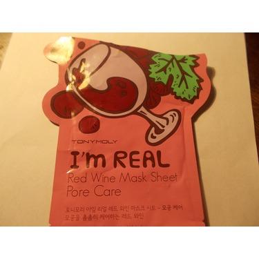 Tony Moly I'm Real Red Wine Mask Sheet Pore Care