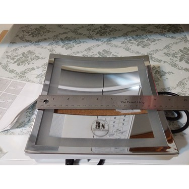 OFKP 8.5 inch LED Magnifying Square Wall Mirror