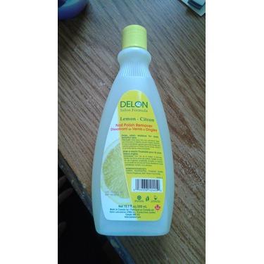 Delon Salon Formula nail polish remover in Lemon