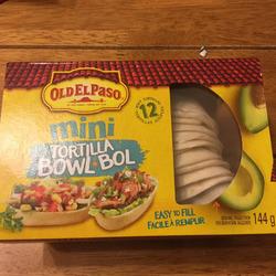 Old El Paso mini tortilla bowl