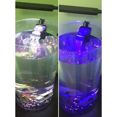 MP power 48 LED 3.5W blue adjustable clamp lamp lighting Aquarium fish tank 3 Mode Lighting for 30-50 cm tank