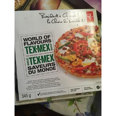 President's Choice Tex Mex frozen pizza