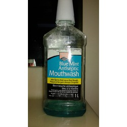 Western Family blue mint antiseptic mouthwash