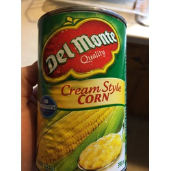 Del monte cream corn