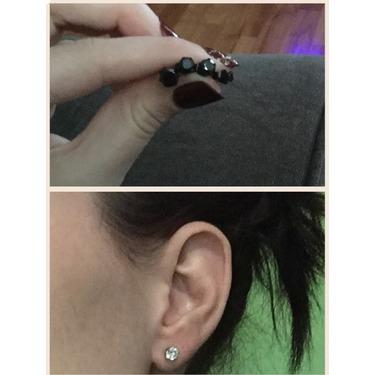 ORAZIO 8 Pairs Stainless Steel Mens Womens Stud Earrings Pierced Round Cubic Zirconia Earrings