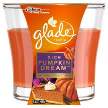 Glade Candle Rich Pumpkin Dream Autumn Collection