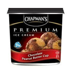 Chapmans Premium Chocolate Peanut Butter Cup Ice Cream