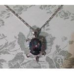 U7 Platinum Plated Turtle Necklace