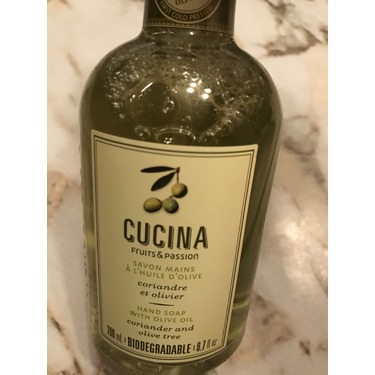 Fruits & Passion Cucina Hand Soap with Olive Oil, Coriander and Olive Tree