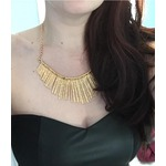 U7 Fashionable Party Girl 18K Gold / Platinum Plated Paddle Rolo Chain Statement Necklace