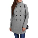 Maxwell Studio Faux Wool Double Breasted Peacoat
