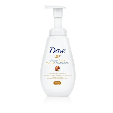 Dove Shower Foam Shea Butter with Warm Vanilla Foaming Body Wash