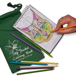 Coloring on the go... Adult coloring book with pouch