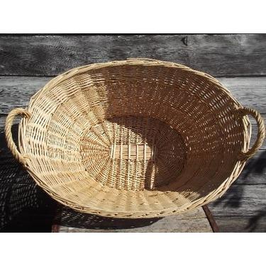 Wicker Laundry Basket by Laurel Leaf Farms
