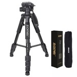 ZOMEI Q111 Camera Tripod Professional 55 inch Camcorder Stand with Pan Head Plate and Travel Carry Bag