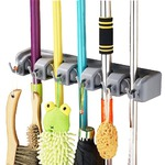 OFKP Wall Mounted Brush Broom and Mop Holder