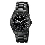 GUESS Women's U13007L1 Classic Multi-Function Black IP Watch