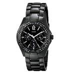 GUESS Women's U13007L1 Classic Multi-Function Black IP Watch