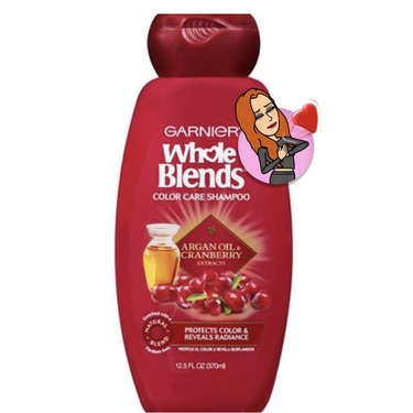 Garnier Whole Blends Argan Oil & Cranberry Shampoo