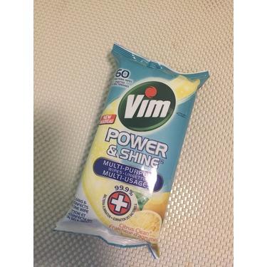 Vim Power & Shine Multi-Purpose Wipes Citrus Clean