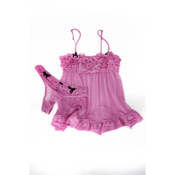 La Senza Mesh Babydoll with Ruffled Cups
