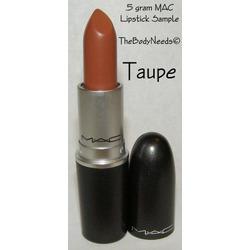 mac lipstick in taupe