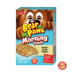 Bear Paw Morning Snack Cereal & Vanilla Yogurt