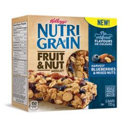 Kellogg's Nutri Grain Fruit and Nut Medley