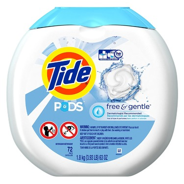 Tide PODS Free & Gentle Laundry Detergent, Unscented