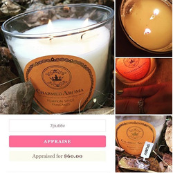 Charmed Aroma 2-Wick Pumpkin Spice Candle