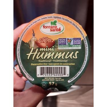 Fontaine Santé- mini hummus traditional