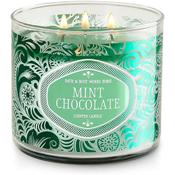 bath and body chocolate mint candle