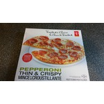 president's choice pepperoni thin & crispy frozen pizza