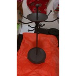 Two Tier Black & Iron Jewelry Holder