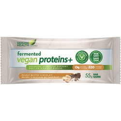 Genuine Health Fermented Vegan Proteins+ Bars in Peanut Butter Chocolate