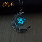 Luminious Moon Glow Heart Necklace