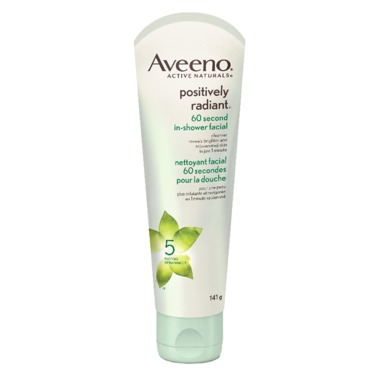 AVEENO® POSITIVELY RADIANT® 60 second In-Shower Facial
