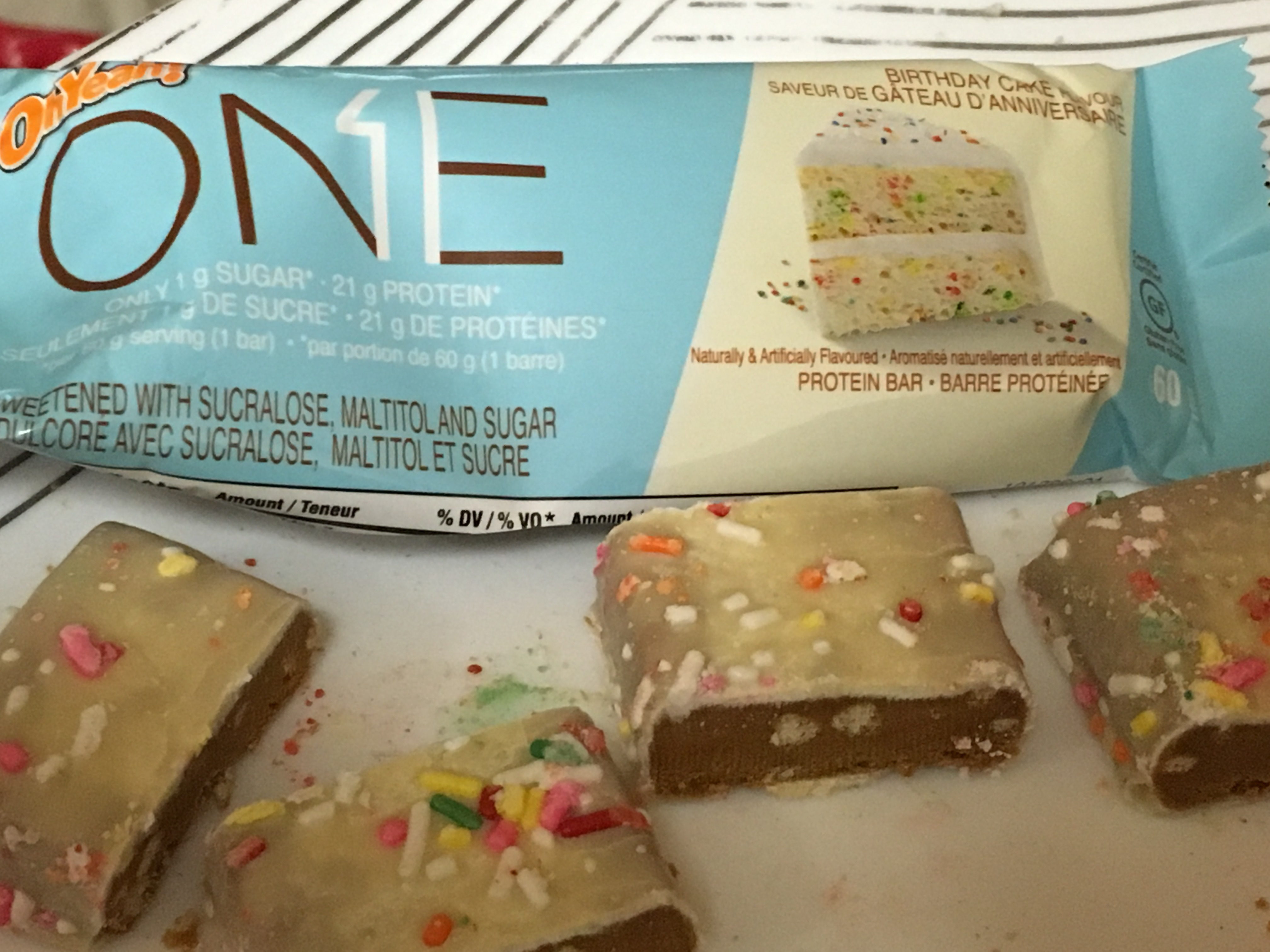 Oh Yeah ONE Protein Bar Birthday Cake Flavour Image Gallery