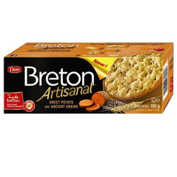 Dare Breton Artisanal Sweet Potato and Ancient Grains Crackers