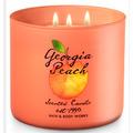 Bath & Body Works 3 Wick Candle Georgia Peach