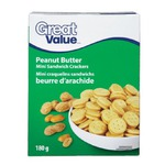 Great Value (Walmat Brand) mini sandwich crackers