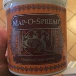 Map-O-Spread composed sugar spread