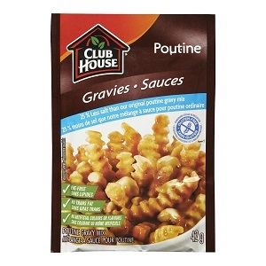 ... Gluten-free » Clubhouse 25% Less Salt & Gluten-Free Poutine Gravy Mix