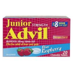 Advil Junior Strength Blue Raspberry Chewable Tablets