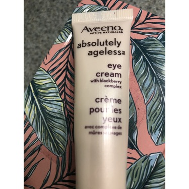 Aveeno Absolutely Ageless Eye cream with blackberry complex